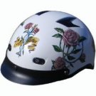 DOT Ladies Motorcycle Vented Pearl White Half Helmet Motorcycle