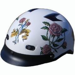 DOT Ladies Motorcycle Vented Pearl White Half Helmet Motorcycle
