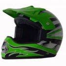 DOT ATV Dirt Bike MX Green Motocross Helmet