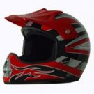 DOT ATV Dirt Bike MX Red Motocross Helmet