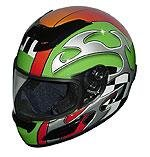Full Face Racing Helmets - Green Blade