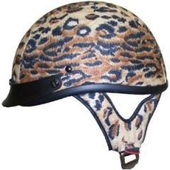 DOT Ladies Motorcycle Waterproof Leopard Motorbike Helmets