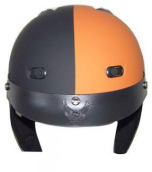 DOT Matte Black/Orange Motorbike Helmets
