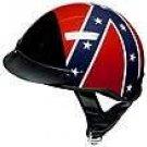 DOT Rebel Flag Shorty Helmet Motorcycle