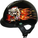 DOT Skull Head Motorbike Helmet
