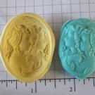 Sisters / Best Friends  -  Flexible Silicone Mold - Candy Crafts Cookies
