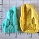 Castle -  Silicone Mold - Candy Cake crafts Cookies Clay