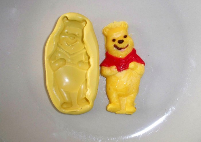Bear Honey -  Silicone Mold - Candy Cake Cookies Crafts Plaster