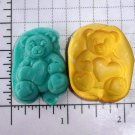 Teddy Bear w/ Heart - Silicone Mold Soap Candy Plaster Cake Resin