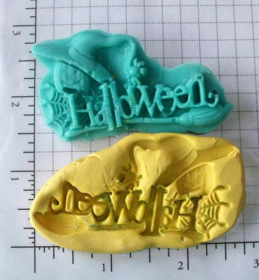 Halloween letters word -  Silicone Mold Soap Candy Plaster Resin Cake