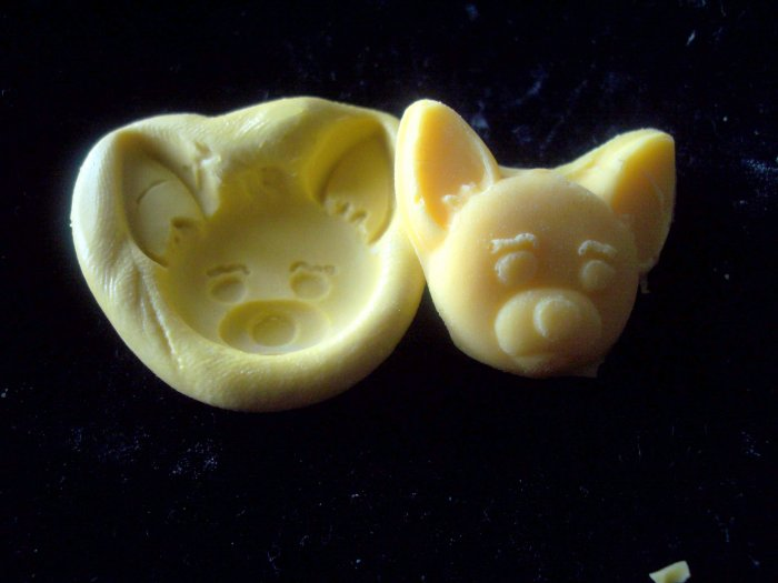 Dog E-Silicone Mold Soap Cake Candy Plaster resin
