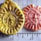 Sun/Moon Face- Silicone Mold Soap Candy Plaster Cake Resin