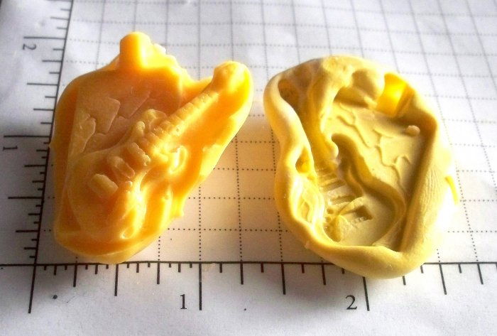 Guitar- Silicone Mold Soap Candy Plaster Cake Resin