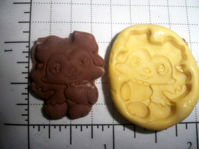 Puppy Dog  -Silicone Mold Soap Cake Candy Chocolate Chips