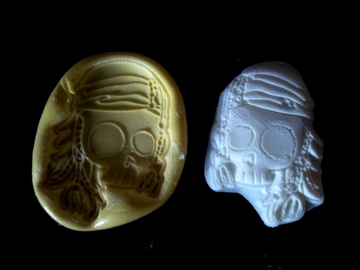 Biker Skull -Silicone Mold Cake Resin Soap Chocolate