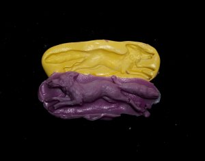 Fox & Rabbit -Silicone Mold Soap Cake Candy Chocolate Chips