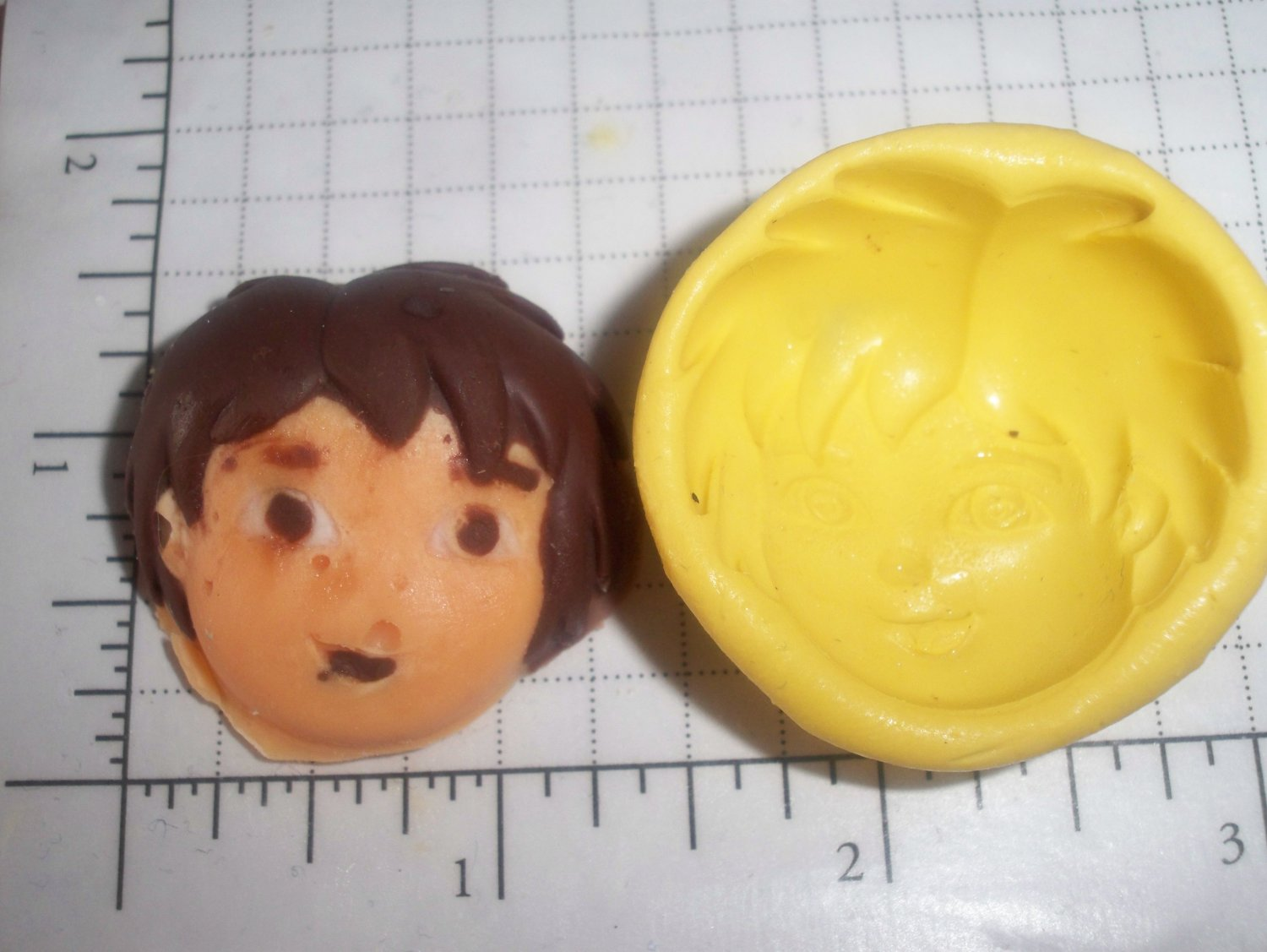 Boy Kid - Flexible Push  Silicone Mold- Cake Candy Cookies