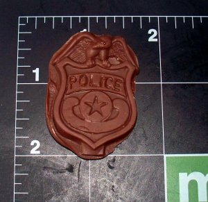 Police Badge-  Silicone Mold - Candy Cake Sugar craft Cookies