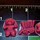 Cowboy Set-  Cake Candy Cookies Crafts-  Flexible Push Silicone Mold