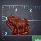Elephant -Cake Candy Cookies Crafts- Flexible Push  Silicone Mold