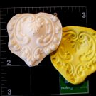 Filigree  Heart-   Silicone Mold Soap Candy Plaster Cake Resin