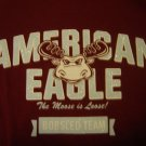 American Eagle Outfitters The Moose is Loose! long sleeve burgundy 100% cotton top