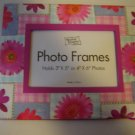photo frame pink gingham patchwork flower fiberboard easel back picture frame