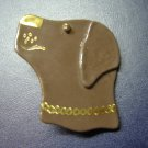 chocolate lab glass pin handmade brown labrador dog jewelry hand painted details