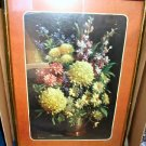 Vintage Framed Print Poster Daisies and Cornflowers Rudy Colao