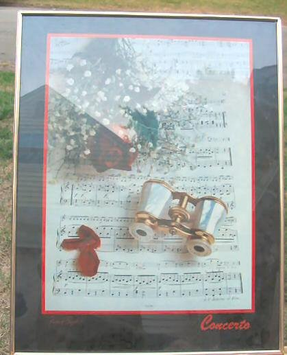Robert Boyd Framed Art Print Poster Musical Notes Roses