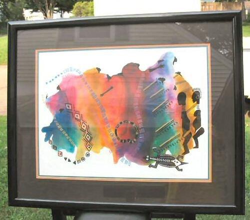 Large Limited Print Framed African Art Signed Framed Ty