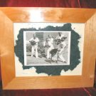 Original Framed Mixed Media Print B&W Photo Nyugen E. Smith