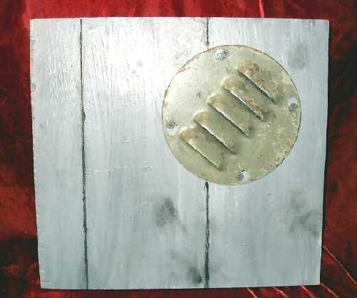 Original Oil Abstract Painting Sculpture on Wood Mixed Media siding Nyugen E. Smith