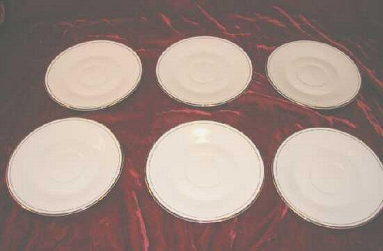 6 Baum Bros Porcelain Desert Plate Plates Dinnerware
