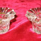 NIB Pair of Crystal Votive Candle Holders Candleholder Gift Set