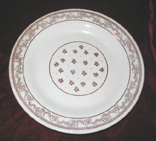 "Vintage Oxford Stoneware Dinner Serving Plate Brazil 9"""