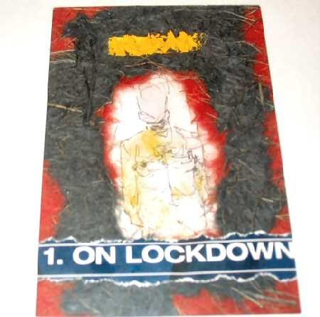 Original Framed Mixed Media Abstract Print Art Lockdown Nyugen E. Smith
