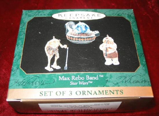 1999 Hallmark 3 Ornament Max Rebo Band Star Wars QXI4597