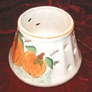 New Halloween Candle Jar Shade Fall Harvest Pumpkin