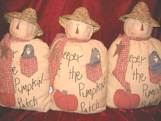 New Halloween Decor Fabric Dolls Pumpkin Patch