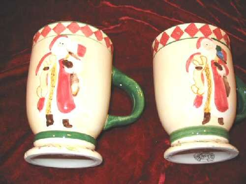 2 Oxford Elite Snowman Mug Christmas Hand Painted
