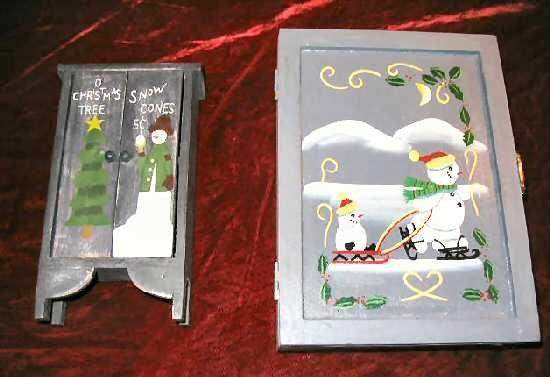 NEW Hand Painted Pine Treasure Chest Jewelry Box Case