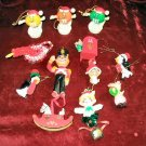 12 Vintage ChristmasTree Ornaments Hanging Assorted