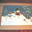 Tender Heart Treasures Snowman Christmas Painting