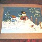 Tender Heart Treasures Snowman Christmas Painting