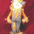 New Halloween Decor Scarecrow Straw & Fabric Doll Big