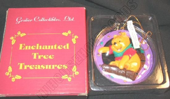 Disney Grolier Ornament Winnie Pooh Bear Enchanted Tree 26311-109