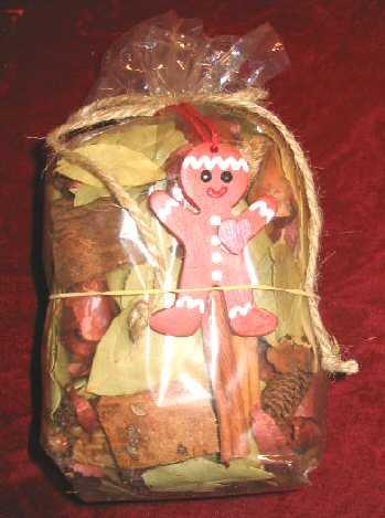 NEW Olio Gingerbread Potpourri Gift Bag 6oz