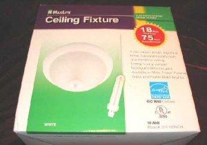 Round Ceiling Light Fixture w/Energy Saving Bulb 18=75W