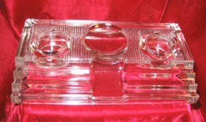Antique Paragon Double Glass Inkwell #170 Pat 1912